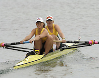 Munich, GERMANY, 2006, FISA, Rowing, World Cup, AUS W2- , bow Emily Martin and Sarah Heard,  , held on the Olympic Regatta Course, Munich, Thurs. 25.05.2006. © Peter Spurrier/Intersport-images.com,  / Mobile +44 [0] 7973 819 551 / email images@intersport-images.com.[Mandatory Credit, Peter Spurier/ Intersport Images] Rowing Course, Olympic Regatta Rowing Course, Munich, GERMANY