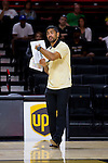 Wake Forest Demon Deacons assistant coach Arturo Rivera gives instructions during the match against the Loyola Ramblers in the LJVM Coliseum on September 3, 2016 in Winston-Salem, North Carolina.  The Ramblers defeated the Demon Deacons 3-2.   (Brian Westerholt/Sports On Film)