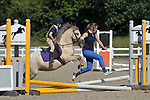 Class 1. Cross poles (X-poles). Unaffiliated showjumping. Brook Farm Training Centre. Essex. 06/08/2017. MANDATORY Credit Garry Bowden/Sportinpictures - NO UNAUTHORISED USE - 07837 394578