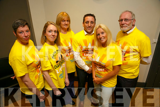 Darkness into Light Volunteers l-r  Ann O'Shea, Gillian Goggin, Pat Turner,  Aidan O'Sullivan, Marilyn O'Shea and Martin Brosnan