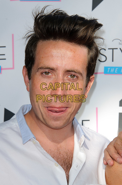 NICK GRIMSHAW .New Look 'Style the Nation' Party, London, England..May 10th, 2011.headshot portrait tongue funny white .CAP/CJ.©Chris Joseph/Capital Pictures.