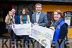 Pictured at the presentation of a cheque on Thursday last, for €1,106.50 as funds were raised from a Tandem Skydive on July last in aid of Down Syndrome Ireland and the Alzheimer Society of Ireland, l-r: Breda O'Grady, Eli O'Grady, Emmett O'Grady, Aoife Faherty and Risteard Pierse (Downs Syndrome Ireland).