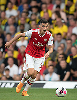 Granit Xhaka of Arsenal during the Premier League match between Watford and Arsenal at Vicarage Road, Watford, England on 16 September 2019. Photo by Andy Rowland.