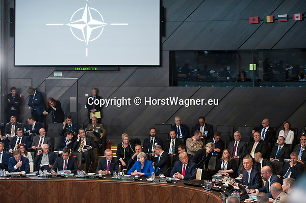 Belgium, Brussels - July 12, 2018 -- NATO summit, meeting of Heads of State / Government; here, meeting of the NAC North Atlantic Council -- Photo © HorstWagner.eu