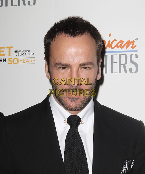 "Tom Ford.""Inventing David Geffen"" - Los Angeles Premiere Held At The Writer's Guild Theater, Beverly Hills, California, USA..November 13th, 2012.headshot portrait beard stubble facial hair black  suit tie white shirt.CAP/ADM/KB.©Kevan Brooks/AdMedia/Capital Pictures."