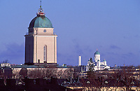 Suomenlinna Church Lighthouse and Helsinki Cathedral (Tuomikirkko) are two important symbols of the capital of Finland.