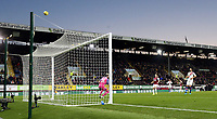 Burnley's Chris Wood lifts his second half shot high over  Vicente Guaita's goal<br /> <br /> Photographer Rich Linley/CameraSport<br /> <br /> The Premier League - Burnley v Crystal Palace - Saturday 30th November 2019 - Turf Moor - Burnley<br /> <br /> World Copyright © 2019 CameraSport. All rights reserved. 43 Linden Ave. Countesthorpe. Leicester. England. LE8 5PG - Tel: +44 (0) 116 277 4147 - admin@camerasport.com - www.camerasport.com
