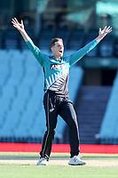13th March 2020, Sydney Cricket Ground, Sydney, Australia;  Mitchell Santner of the Blackcaps appeals. International One Day Cricket. Australia versus New Zealand Blackcaps, Chappell–Hadlee Trophy, Game 1.