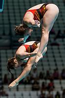 FREYER Friederike, PUNZEL Tina GER<br /> Diving <br /> Women's 3m Synchro Springboard Preliminary<br /> Day 04 17/07/2017 <br /> XVII FINA World Championships Aquatics<br /> Duna Arena Budapest Hungary July 15th - 30th 2017 <br /> Photo @A.Masini/Deepbluemedia/Insidefoto