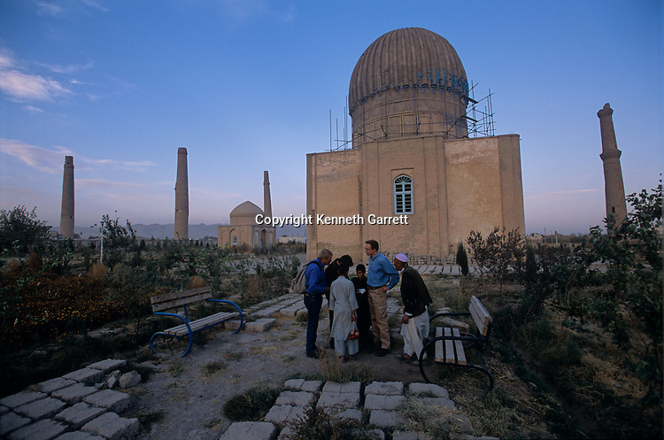 Gowhar Shad; minarets and mausoleum; 15th century; under renovation; UNESCO; Afghanistan, Herat