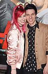 HOLLYWOOD, CA - FEBRUARY 13: Actors Carly Incontro (L) and Bruce Wiegner attend the premiere of Warner Bros. Pictures' 'Fist Fight' at the Regency Village Theatre on February 13, 2017 in Westwood, California.