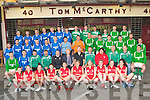 Team Tom McCarthy's  2012 National League and Kerry County League Champions, Castleisland AFC 2012 Greyhound Bar Cup and Castle Bar Cup winners, and Castleisland AFC Second team 2012 KDL Division 1b League Champions Front row l-r: Philomena O'Connor, Eileen O'Connor,  Miriam Leane, Maura Conroy, Tracey Hartnett, Reidin Loughlin, Margaret Daly, Aoife Nolan, Niamh O'Connell, Neasa Sheehy. Middle row: Martin 'Mazza' Moriarty Joint Captain, Timmy Walsh Second Team Captain, Jason McCarthy 2012-13 Manager, Dan Maunsell Second Team Manager, Tommy O'Connor Coach, Mary McCarthy, Tom McCarthy, Mike Brosnan Chairman, Brid Kenny Team Manager, Edmond Hartnett 2011-12 Manager, John Coffey Assistant Treasurer, Mike McCarthy Joint Captain. Third row: Johnny O'Sullivan, Ray Huggard, Mike Cahill, John Feehan, Patrick O'Rourke, Dean Poolman, Gary O'Sullivan, Kevin Moran, Aidan O'Callaghan, Pa McCarthy, Seán Óg O Ciardubhain, Paul Carmody, Shane Loughlin, Donnacha Ryan. Back row: Tommy Feehan, Stephen McCarthy, Neil O'Sullivan, Pierce Brosnan, Connie O'Rourke, John Downey, Eamon McLoughlin, Colm Clifford, Evan Roche, Mike 'Itchy' Keane, Tomás Brosnan, Mike Hannafin and Stan Divane