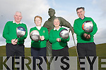 TRALEE GOLF CLUB: Ready for the captain's drive at Tralee golf club on Sunday l-r: Jerry Moloney (captain), Ber Collins (lady captain), Ann Barrett (lady president) and Gerry O'Shea (president).