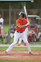 Evan Carter (55) during the WWBA World Championship at the Roger Dean Complex on October 12, 2019 in Jupiter, Florida.  Evan Carter attends Elizabethton High School in Johnson City, TN and is committed to Duke.  (Mike Janes/Four Seam Images)
