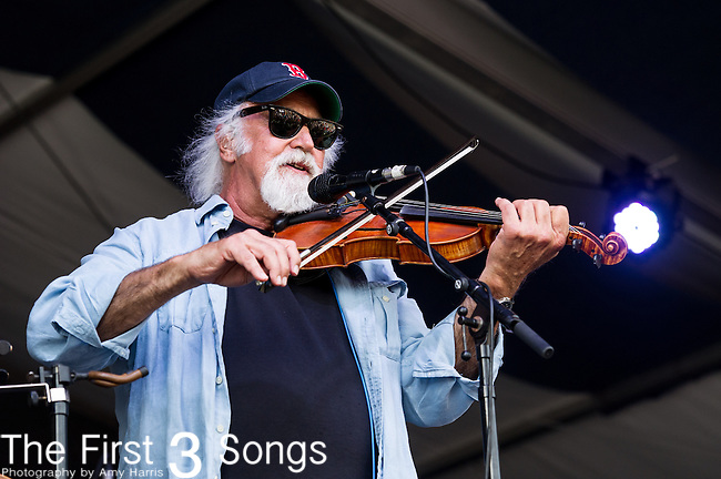 Michael Doucet of BeauSoleil performs during the New Orleans Jazz & Heritage Festival in New Orleans, LA.