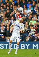 Leeds United's Mateusz Klich vies for possession with Brentford's Sergi Canos<br /> <br /> Photographer Alex Dodd/CameraSport<br /> <br /> The EFL Sky Bet Championship - Leeds United v Brentford - Saturday 6th October 2018 - Elland Road - Leeds<br /> <br /> World Copyright &copy; 2018 CameraSport. All rights reserved. 43 Linden Ave. Countesthorpe. Leicester. England. LE8 5PG - Tel: +44 (0) 116 277 4147 - admin@camerasport.com - www.camerasport.com