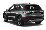 Car pictures of rear three quarter view of a 2020 Ford Escape SEL 5 Door SUV angular rear