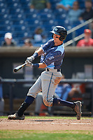 West Michigan Whitecaps second baseman Kody Clemens (21) swings at a pitch during a game against the Quad Cities River Bandits on July 23, 2018 at Modern Woodmen Park in Davenport, Iowa.  Quad Cities defeated West Michigan 7-4.  (Mike Janes/Four Seam Images)