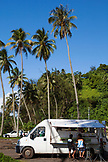 FRENCH POLYNESIA, Tahiti. A food truck at Papenoo Beach.