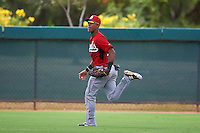 Cincinnati Reds Miles Gordon (69) during an instructional league game against the Los Angeles Dodgers on October 20, 2015 at Cameblack Ranch in Glendale, Arizona.  (Mike Janes/Four Seam Images)