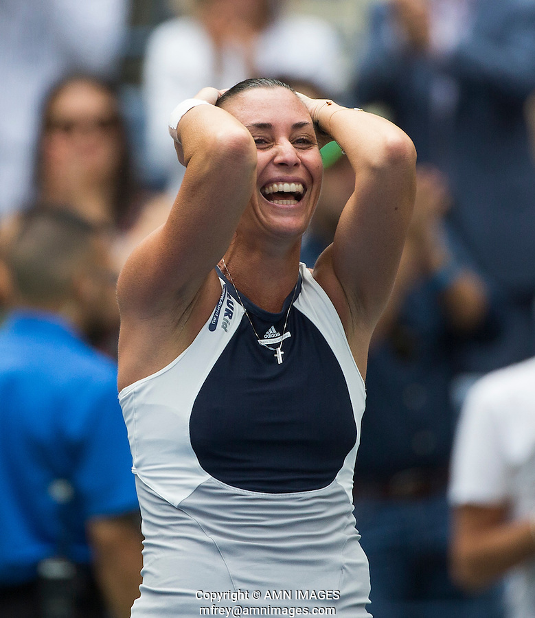 FLAVIA PENNETTA (ITA)<br /> <br /> The US Open Tennis Championships 2015 - USTA Billie Jean King National Tennis Centre -  Flushing - New York - USA -   ATP - ITF -WTA  2015  - Grand Slam - USA  <br /> <br /> &copy; AMN IMAGES