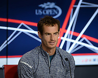 FLUSHING NY- AUGUST 26: Andy Murray speaks during a press conference at the USTA Billie Jean King National Tennis Center on August 26, 2016 in Flushing Queens. Photo byMPI04 / MediaPunch