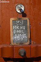 Storage vats. Sign. Mas Amiel, Maury, Roussillon, France