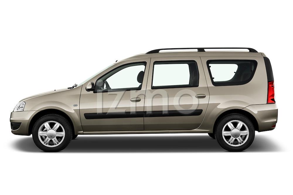Driver side profile view of a 2009 Dacia Logan Laureate Minivan.