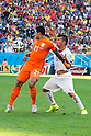 Memphis Depay (NED), Gary Medel (CHI), JUNE 23, 2014 - Football / Soccer : FIFA World Cup Brazil 2014 Group B match between Netherlands 2-0 Chile at Arena de Sao Paulo Stadium in Sao Paulo, Brazil. (Photo by Maurizio Borsari/AFLO)