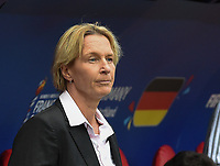20190612 - VALENCIENNES , FRANCE : German coach Martina Voss Tecklenburg pictured during the female soccer game between Germany  and Spain  , the second game for both teams in group B during the FIFA Women's  World Championship in France 2019, Wednesday 12 th June 2019 at the Stade du Hainaut Stadium in Valenciennes , France .  PHOTO SPORTPIX.BE | DIRK VUYLSTEKE