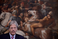 Roma, 27 Luglio 2017<br /> Paolo Gentiloni incontra il presidente del Partito socialdemocratico tedesco Martin Schulz a Palazzo Chigi