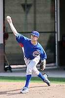Brett Wallach of the Chicago Cubs participates in spring training workouts at the Cubs complex on March 6, 2011  in Mesa, Arizona. .Photo by:  Bill Mitchell/Four Seam Images.
