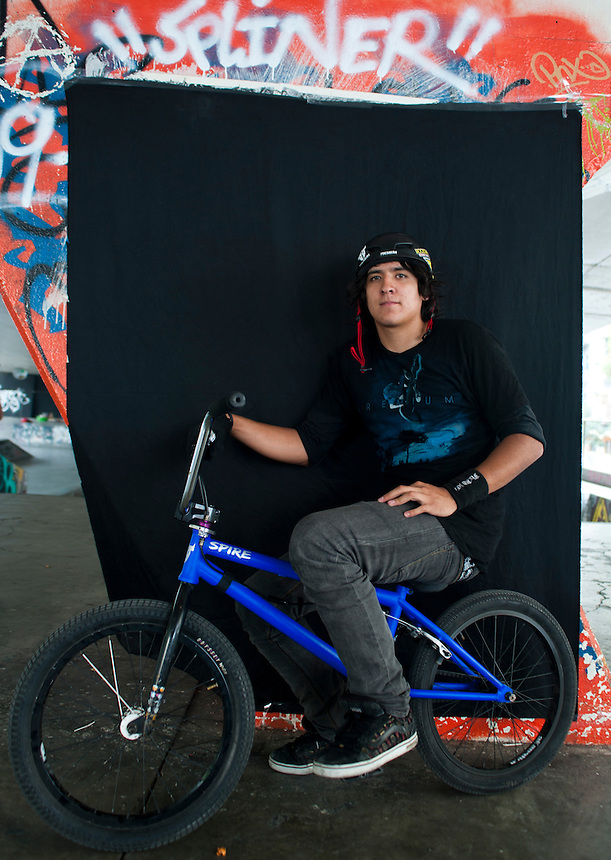 Zury Brambila, 20 years old. Portraits of Adolescents San Cosme skate park, in Mexico City. Release #11