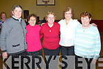ACTIVE: Friends meet up at the Ballymacelligott Active retirment Tea Dance at the Ballymacelligott Community Centre on Sunday l-r: Sheila O'Callaghan, and Nora Browne (Knocknagoshel), Ann Lane (Brosna), Maureen Sugrue and Mary Stack (Castleisland).