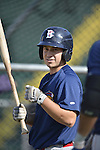 18 August 2012: Brooklyn Cyclones infielder Jeff Reynolds awaits his turn in the batting cage prior to a game against the Vermont Lake Monsters at Centennial Field in Burlington, Vermont. The Lake Monsters defeated the Cyclones 4-1 in NY Penn League action. Mandatory Credit: Ed Wolfstein Photo