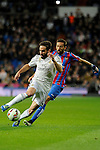 Real Madrid´s Daniel Carvajal and Levante UD´s Jose Luis Morales Nogales during 2014-15 La Liga match between Real Madrid and Levante UD at Santiago Bernabeu stadium in Madrid, Spain. March 15, 2015. (ALTERPHOTOS/Luis Fernandez)