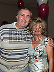 Andre celebrating her 50th birthday in the d hotel with friend Martin Owens. Photo:Colin Bell/pressphotos.ie