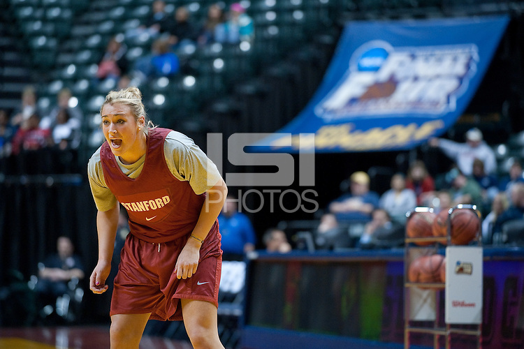 INDIANAPOLIS, IN - APRIL 2, 2011: Joslyn Tinkle during an open practice session at Conseco Fieldhouse at the NCAA Final Four in Indianapolis, IN on April 1, 2011.