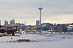 Rowing, Head of the Lake Regatta, November 2 2014, Seattle, Space Needle, Lake Union, Washington State, Lake Washington Rowing Club, Annual Regatta, Lake Washington Ship Canal,