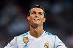 Cristiano Ronaldo of Real Madrid celebrates during the Santiago Bernabeu Trophy 2017 match between Real Madrid and ACF Fiorentina at the Santiago Bernabeu Stadium on 23 August 2017 in Madrid, Spain. Photo by Diego Gonzalez / Power Sport Images
