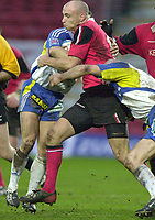 01/02/2004 Parker Pen Challenge Trophy.Saracens v Montferrand.Paul Bailey....   [Mandatory Credit, Peter Spurier/ Intersport Images].