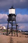 A727Y9 Victorian lighthouse beacon structures Leading Lights Dovercourt Essex England