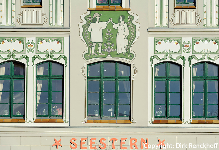 Historische Häuser am Marktplatz in Wismar, Mecklenburg-Vorpommern, Deutschland, UNESCO-Weltkulturerbe