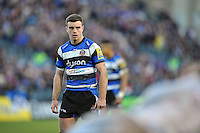 George Ford of Bath Rugby watches a scrum. Aviva Premiership match, between Bath Rugby and Exeter Chiefs on December 27, 2014 at the Recreation Ground in Bath, England. Photo by: Patrick Khachfe / Onside Images