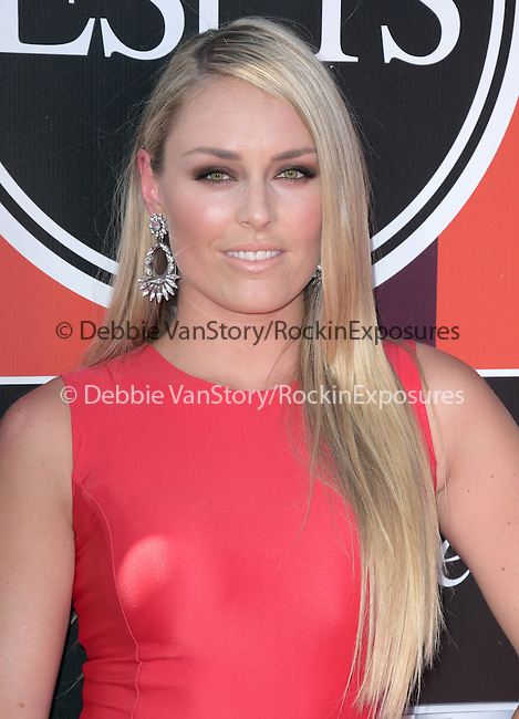 Lindsey Vonn attends The 2015 ESPY Awards held at The Microsoft Theatre  in Los Angeles, California on July 15,2015                                                                               © 2015 Hollywood Press Agency