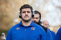 Rob Webber of Bath Rugby looks on prior to the match. European Rugby Champions Cup match, between Bath Rugby and Leinster Rugby on November 21, 2015 at the Recreation Ground in Bath, England. Photo by: Rogan Thomson / JMP for Onside Images