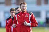Cian Bolger of Fleetwood Town warms up ahead of the Sky Bet League 1 match between Fleetwood Town and MK Dons at Highbury Stadium, Fleetwood, England on 24 February 2018. Photo by David Horn / PRiME Media Images