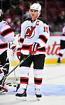 9 January 2010: New Jersey Devils' right wing forward Jamie Langenbrunner warms up prior to a game against the Montreal Canadiens at the Bell Centre in Montreal, Quebec, Canada. The Devils edged out the Canadiens 2-1 in overtime. Mandatory Credit: Ed Wolfstein Photo