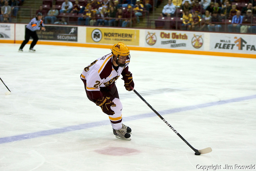 8 Oct 10:  Zach Budish (Minnesota - 24)  The University of Minnesota plays host to Sacred Heart in a non-conference matchup at Mariucci Arena in Minneapolis, MN.