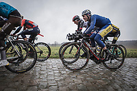 Christophe Noppe (BEL/Sport Vlaanderen Baloise) riding the  cobbles<br /> 73th Dwars Door Vlaanderen (1.UWT)<br /> 1day race: Roeselare &rsaquo; Waregem BEL (180km)